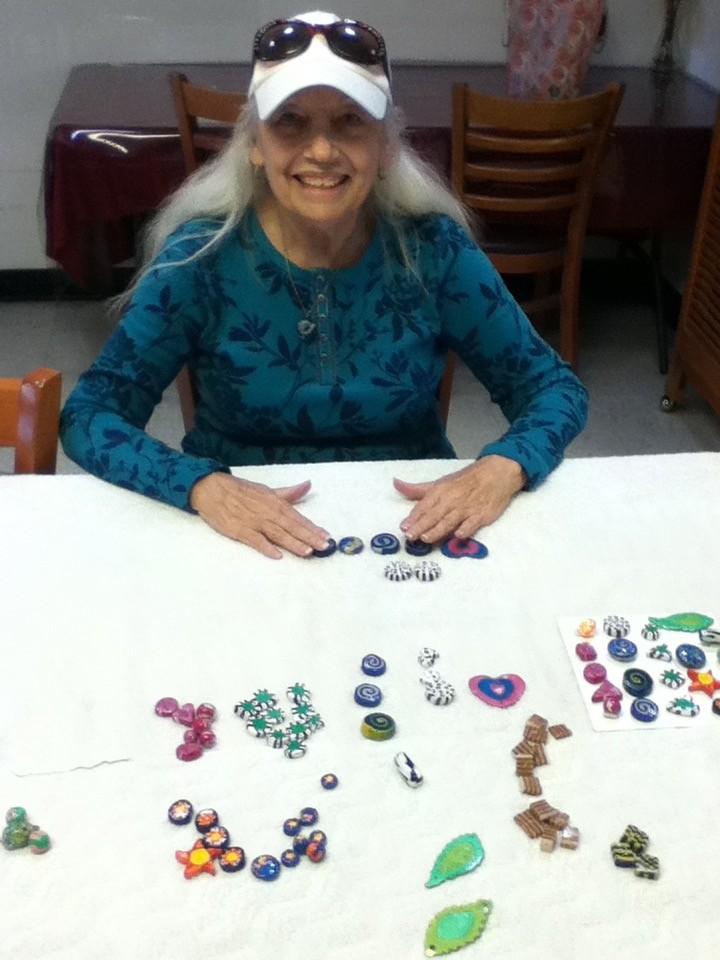 Choosing beads to string